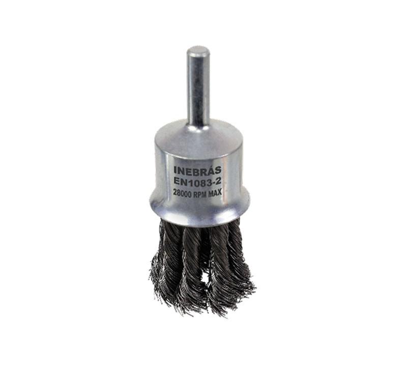 Escova De Aço Trançada Tipo Pincel 25mm 1pol - Inebrás