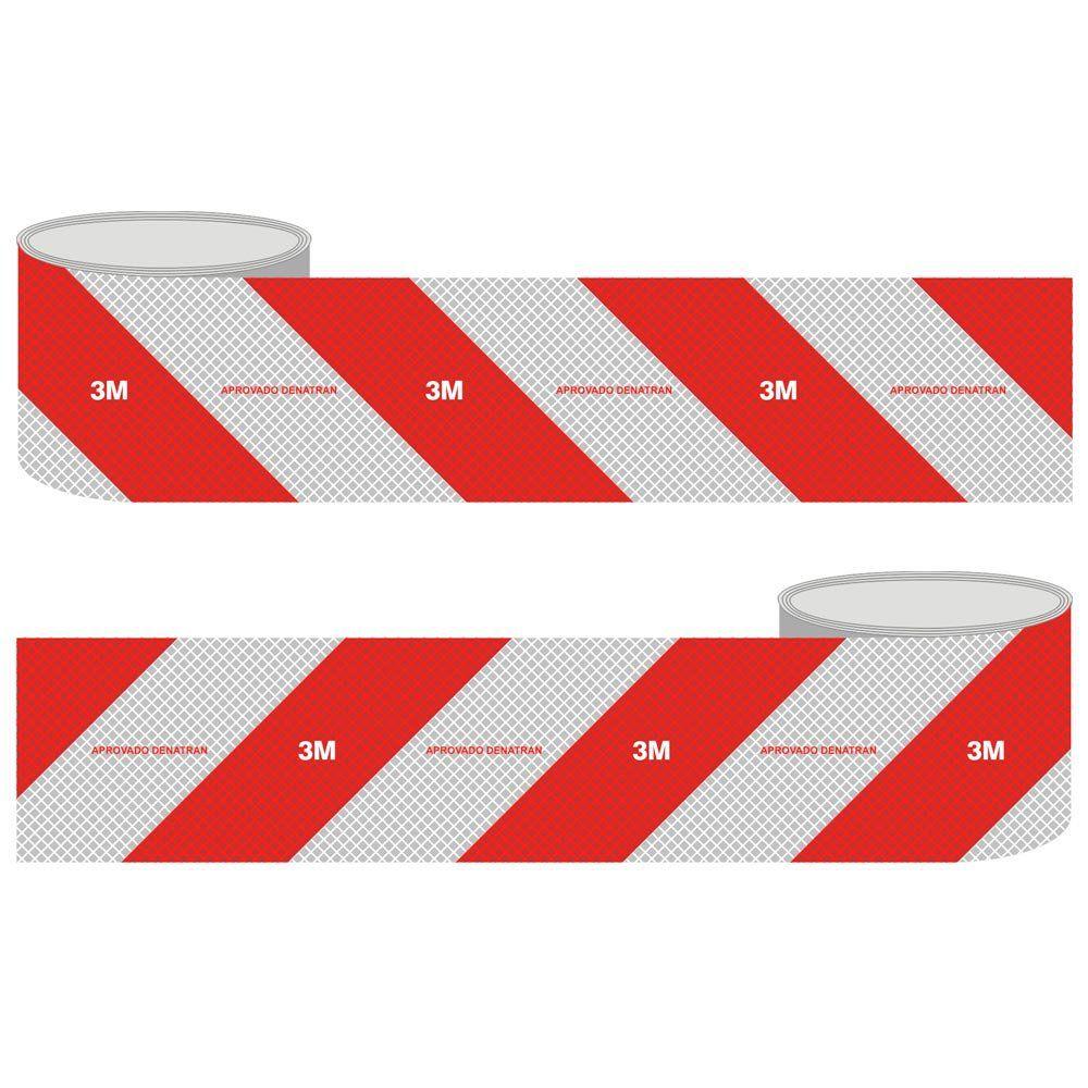 Faixa Refletiva Para-Choque 10cm x 2.4 Metros Aprovado Denatran - 3M