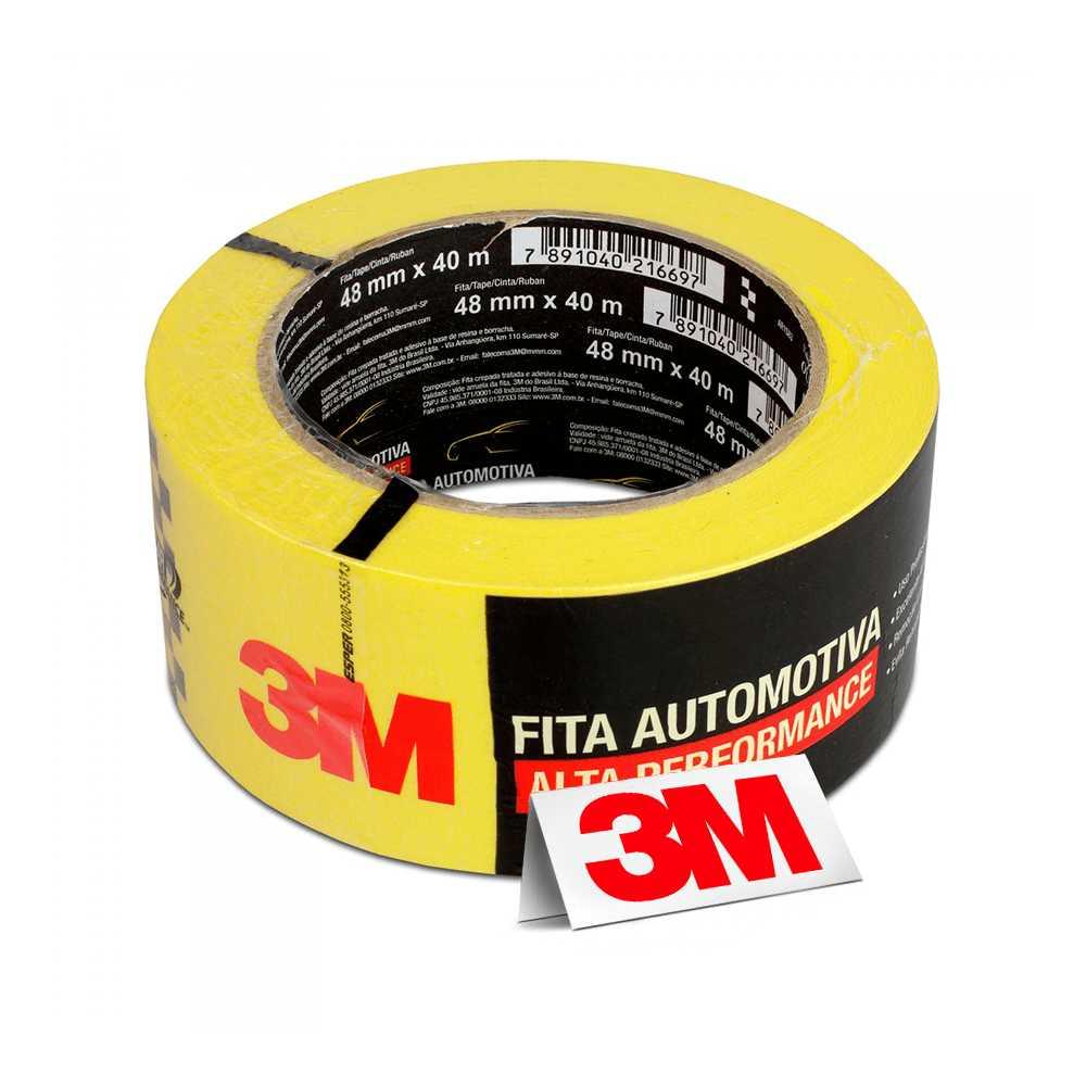 Fita Automotiva Amarela Alta Perfomance  48mm x 40 Metros - 3M