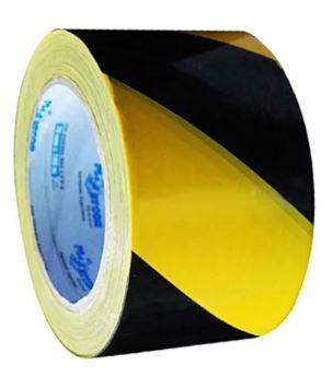 Fita Zebrada De Isolamento 70mmx200m Amarela e Preta - Plastcor