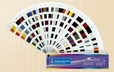 Leque de cores Nacionais e Importadas 2012  2021 - Sherwin