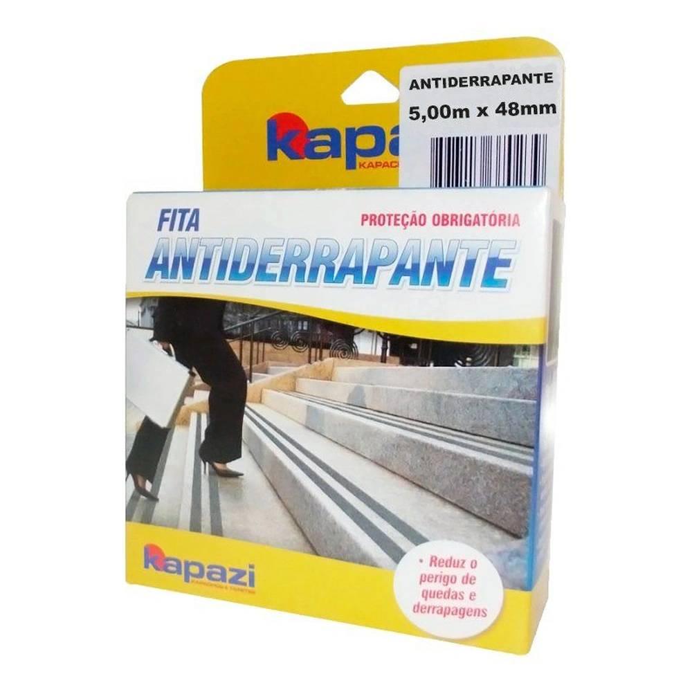 Lixa Anti Derrapante Preta 48mm x 5 Metros - Kapazi