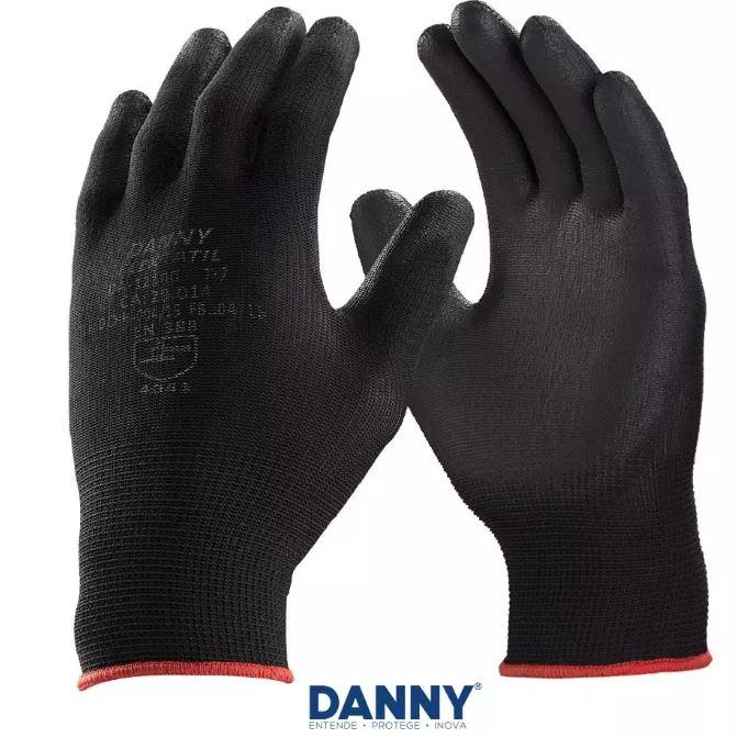 Luva Flextáctil Preta TamXG (10) - Danny