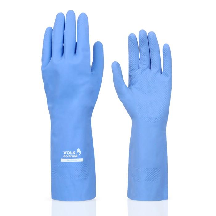 Luva Látex Multi Uso Azul Tamanho 07P - Volk do Brasil