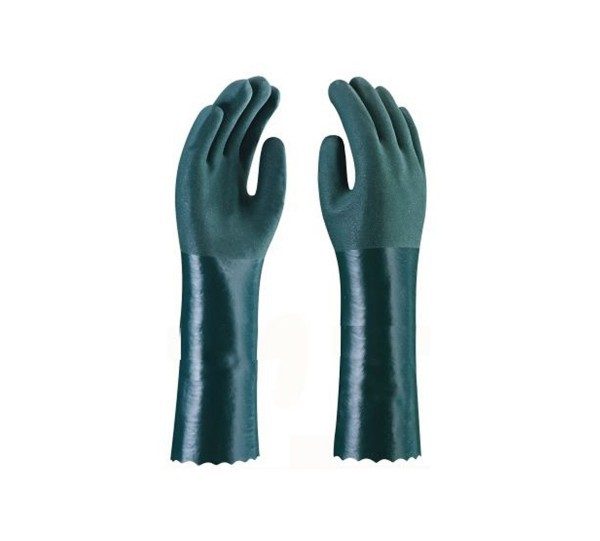 Luva PVC Com Forro Palma Aspera 35cm - Plastcor
