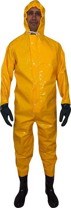 Macacão de Saneamento Amarelo com Bota 36 - Brasopolis