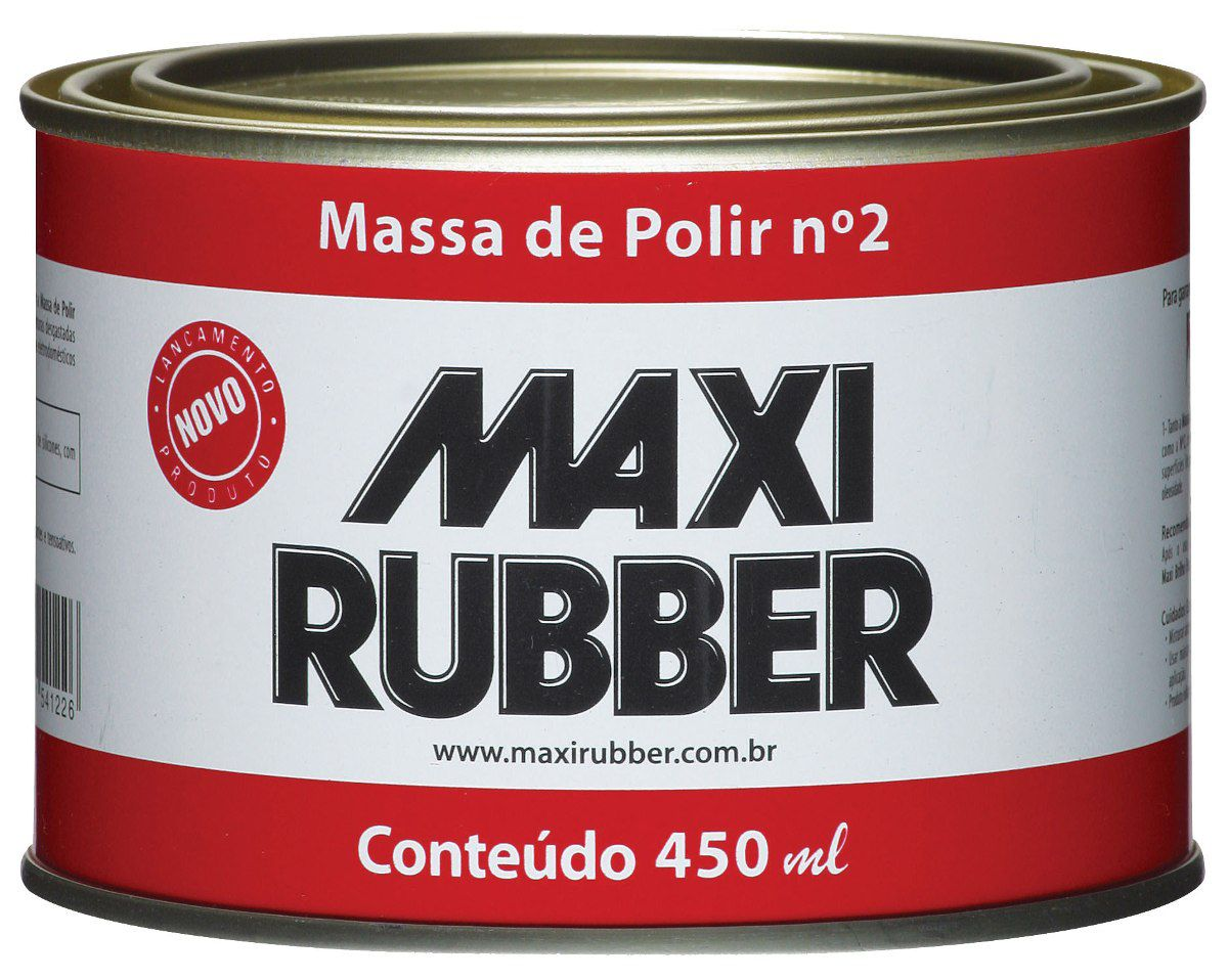 Massa de Polir Nº02 490g - Maxi Rubber