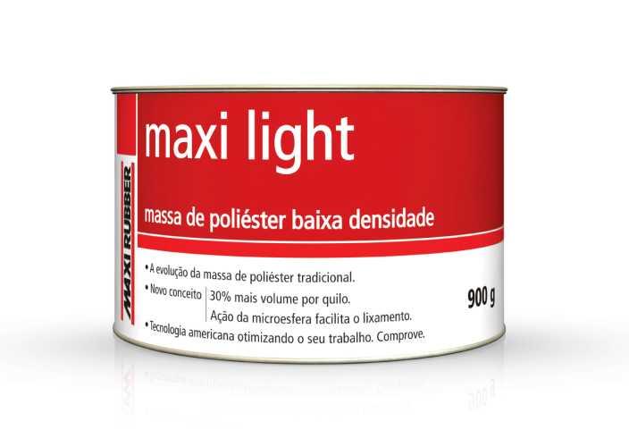 Massa Poliéster Maxi Light 900g - Maxi Rubber