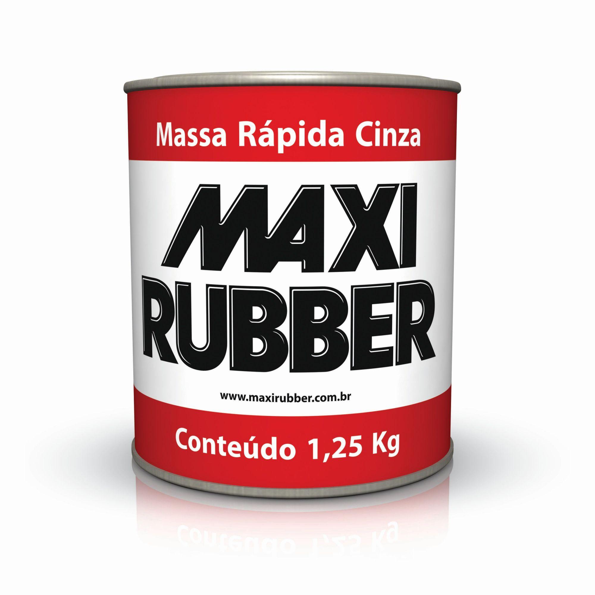 Massa Rápida Cinza 1.25kg - Maxi Rubber
