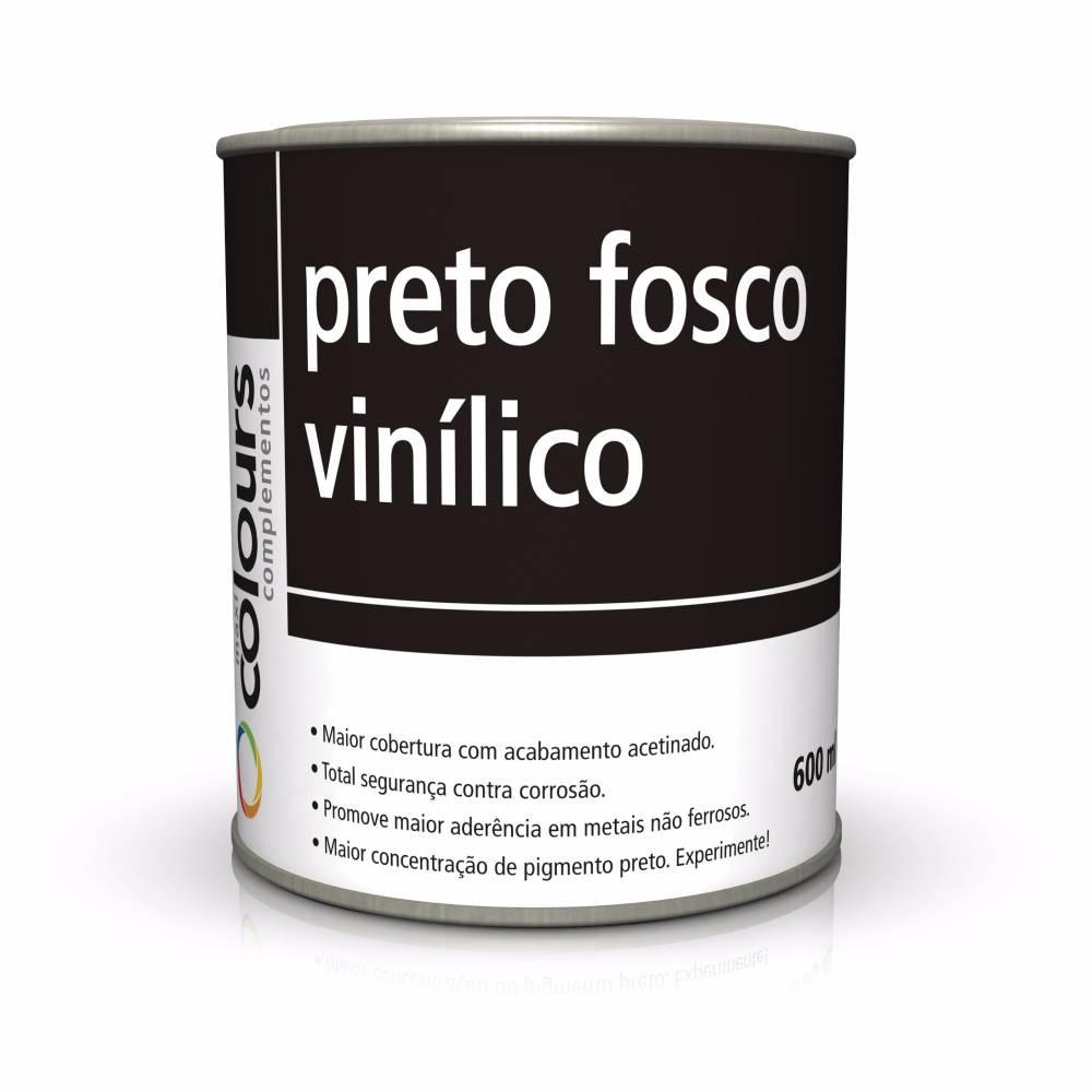 Preto Fosco Vinilico 600ml - Maxi Rubber