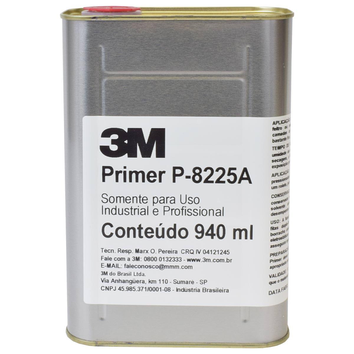 Primer Para Fita VHB P-8225A 940ml - 3M