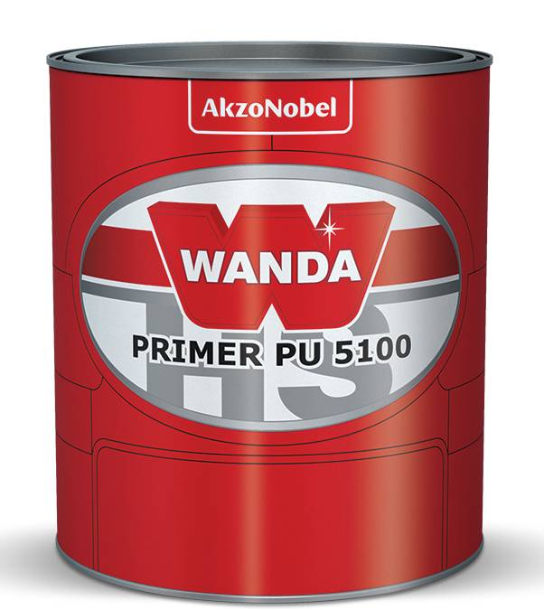 Primer PU Poliuretano PU5100 HS C/Catalisador Cinza Escuro 900ml - Wanda