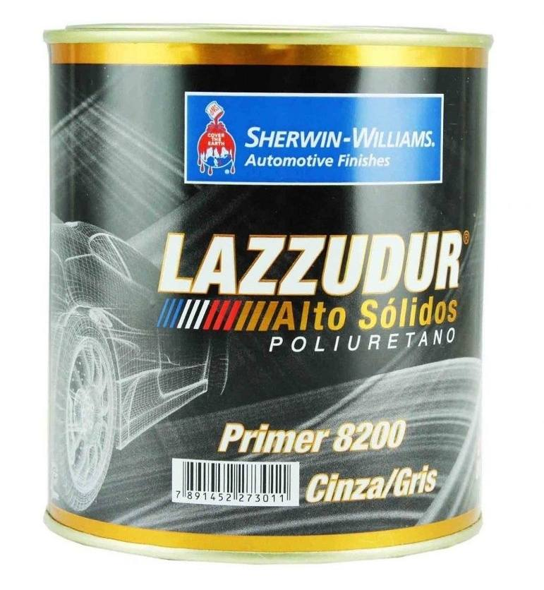 Primer PU Poliuretano 8200 Cinza Lazzuril 800ml - Sherwin Williams