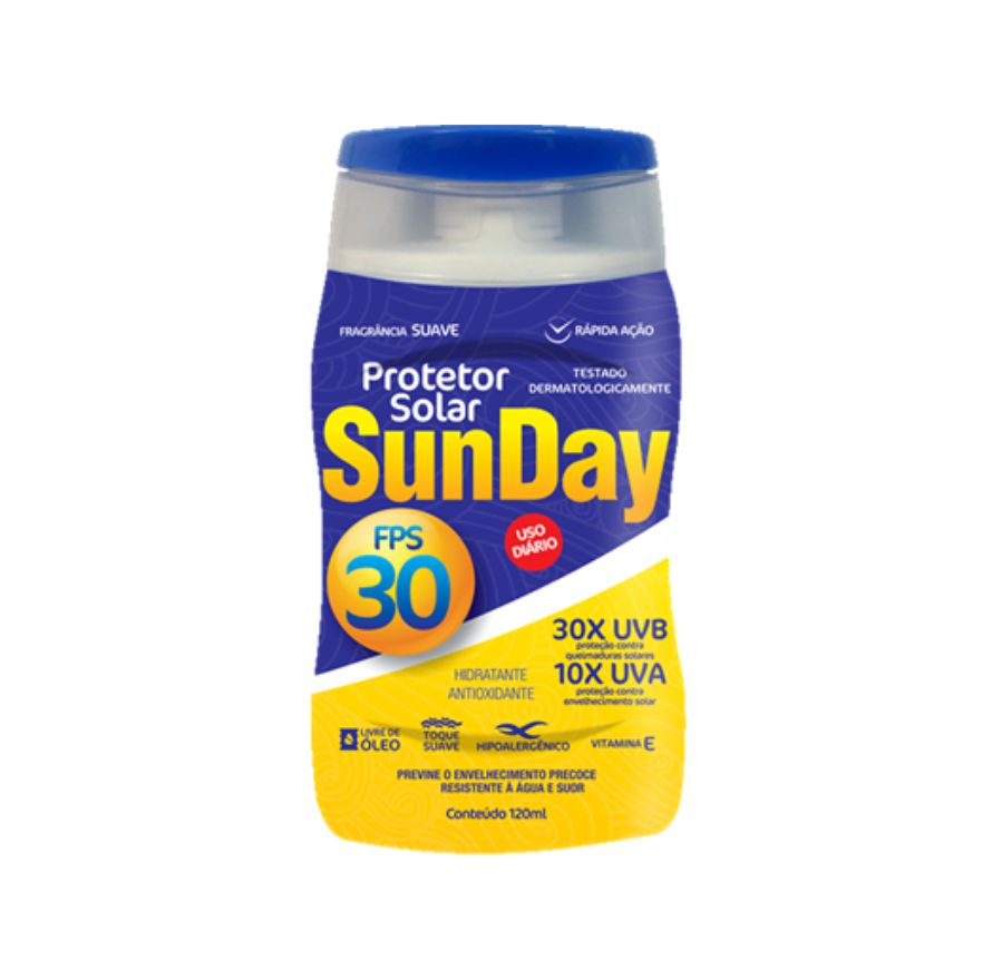 Protetor Solar Sunday FPS30 120ml - Nutriex
