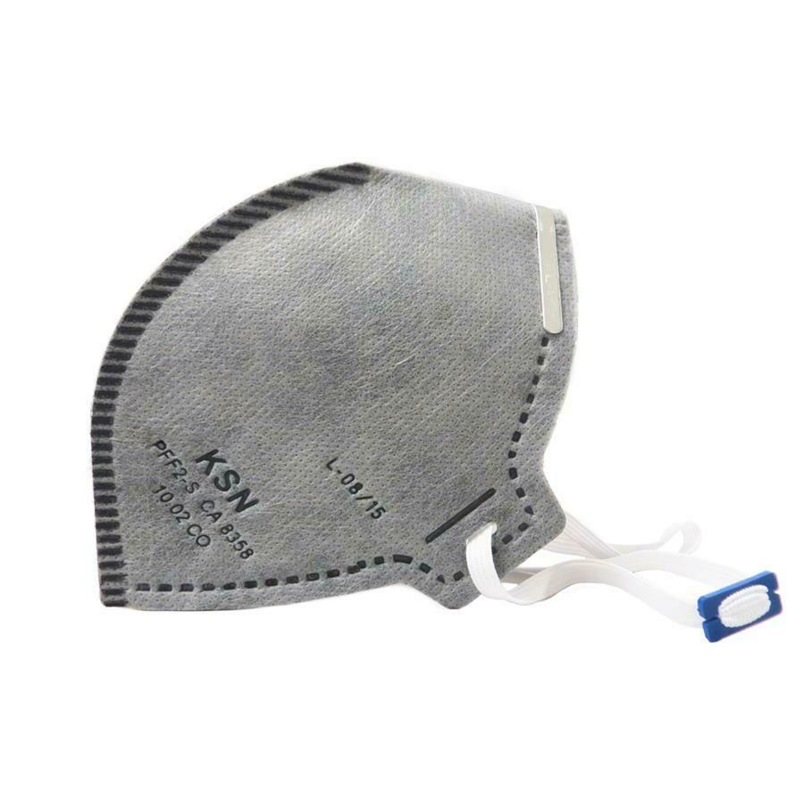 Respirador Descartavel PFF2 VO Sem Válvula Cinza CA 8358 - KSN