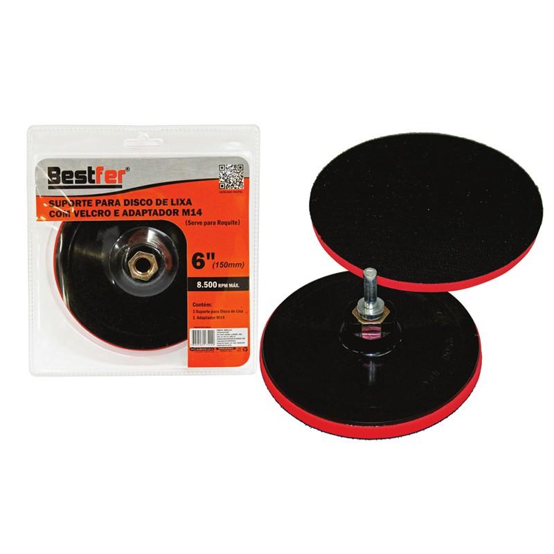 Suporte Para Disco de Lixa com Velcro e adaptador 180mm ou 7Pol - Bestfer