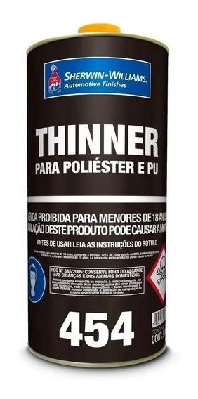 Thinner PU 0454 900ml - Sherwin Williams