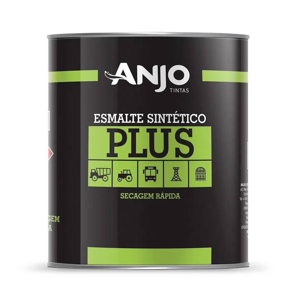 Tinta Esmalte Sintético Plus 900ml Branco Acabamento Brilhante - Anjo Tintas