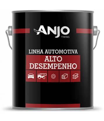 Tinta Laca Nitrocelulose Duco Preto Fosco 900ml - Anjo Tintas