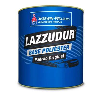Tinta Poliester 900ml Cinza Cromo Perolizado FT08 - Lazzuril