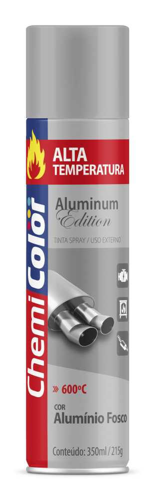 Tinta Spray Alta Temperatura Alumínio 400ml - Chemicolor