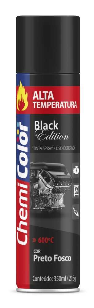 Tinta Spray Alta Temperatura Preto Fosco 400ml - Chemicolor