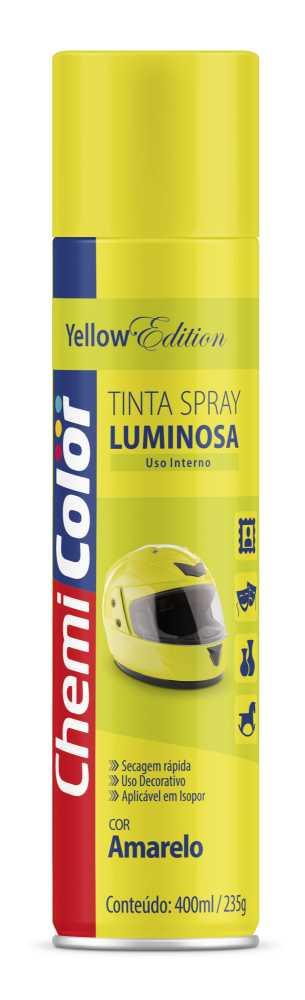 Tinta Spray Luminosa Amarelo 400ml - Chemicolor