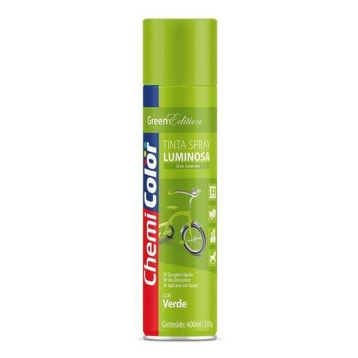 Tinta Spray Luminosa Verde 400ml - Chemicolor