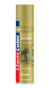 Tinta Spray Metálica Dourado 400ml - Chemicolor