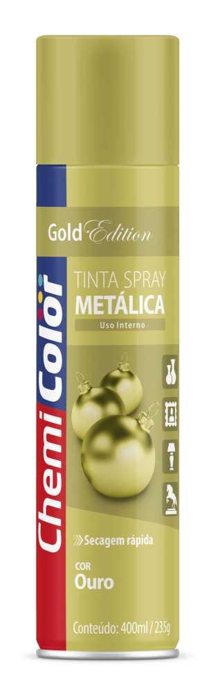 Tinta Spray Metálica Ouro 400ml - Chemicolor