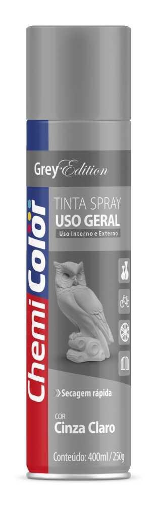 Tinta Spray Uso Geral Cinza Claro 400ml - Chemicolor