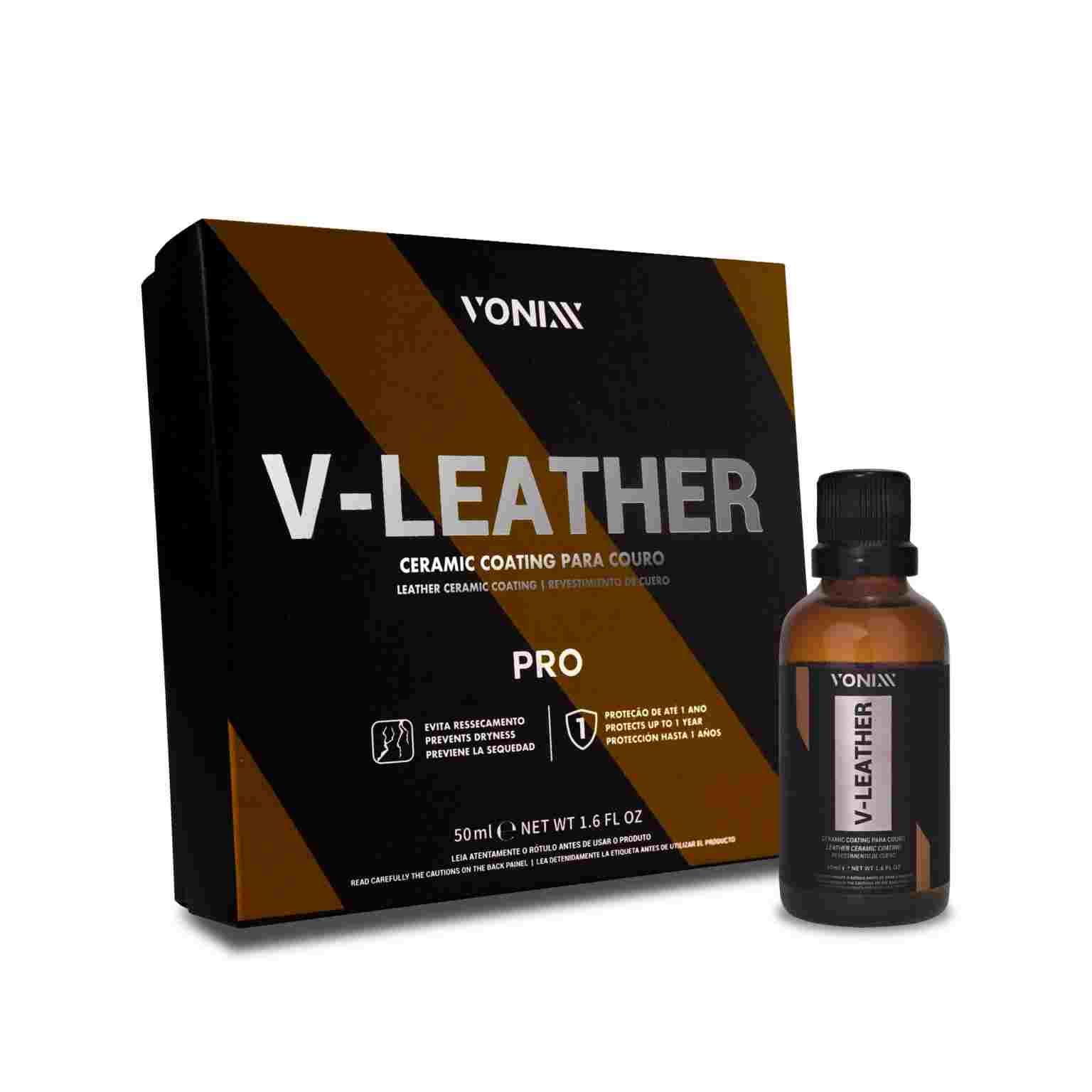 V-Leather Vitrificador De Couro 50ml - Vonixx