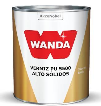 Verniz Alto Solidos 5500 Bi-Componente Com Catalisador 750ml - Wanda