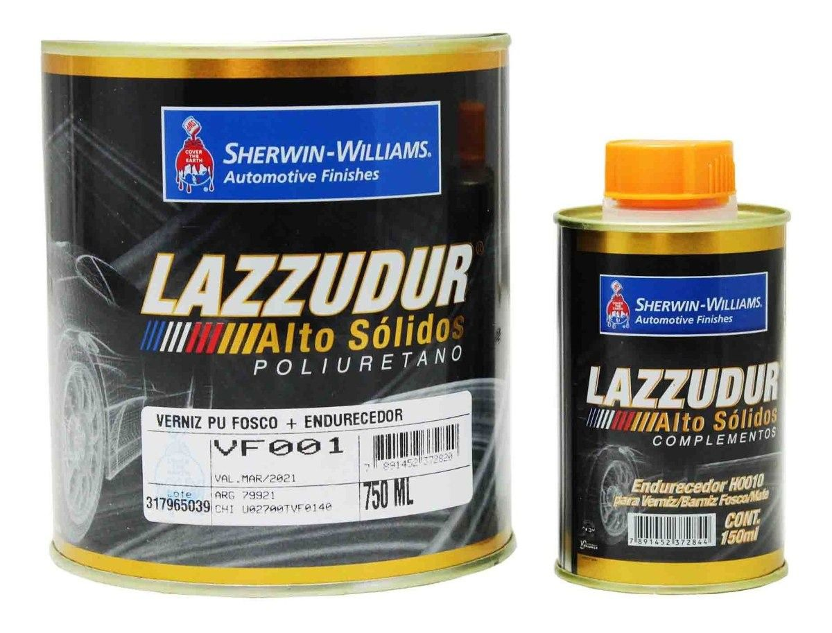 Verniz Poliuretano Fosco Lazzuril VF001 750ml Com Catalisador - Sherwin Williams