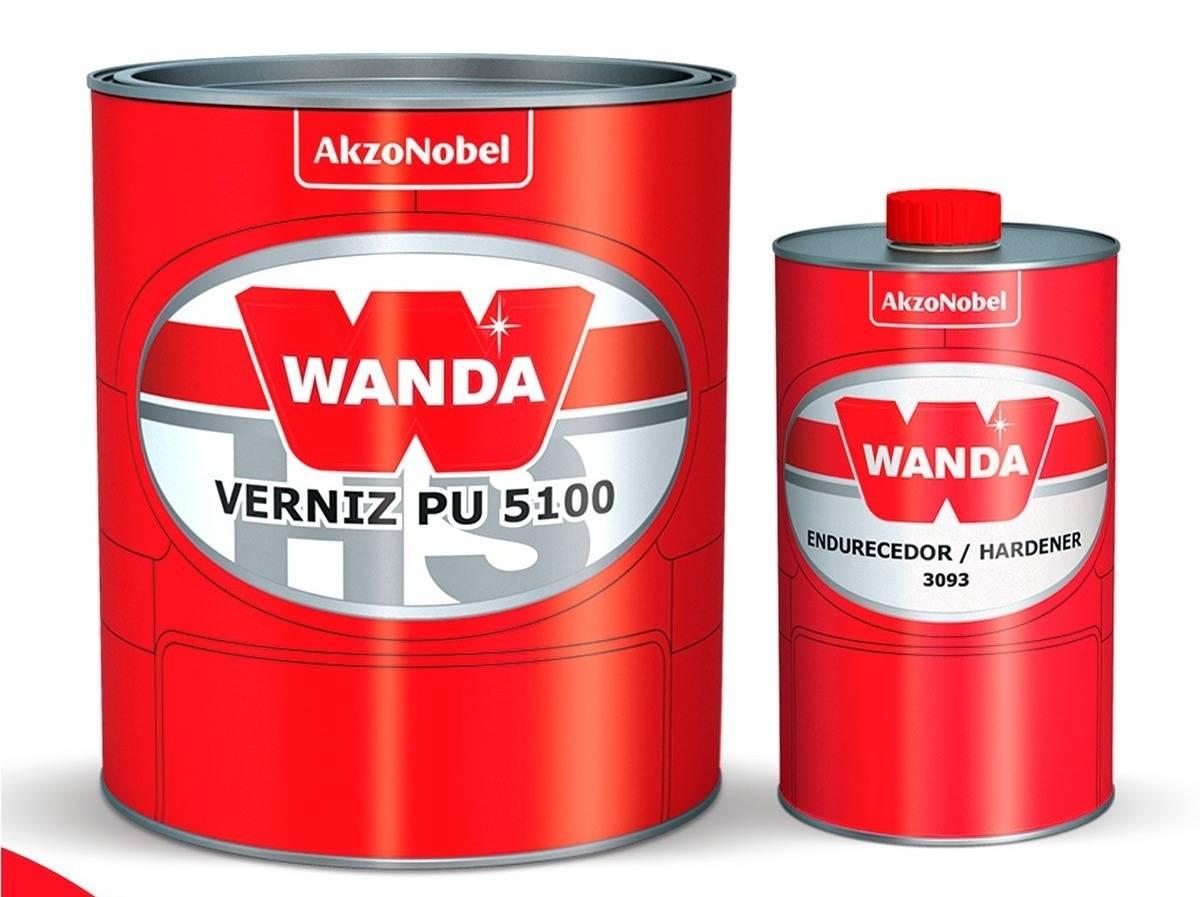Verniz PU5100 Bi-Componente Com Catalisador 750ml - Wanda
