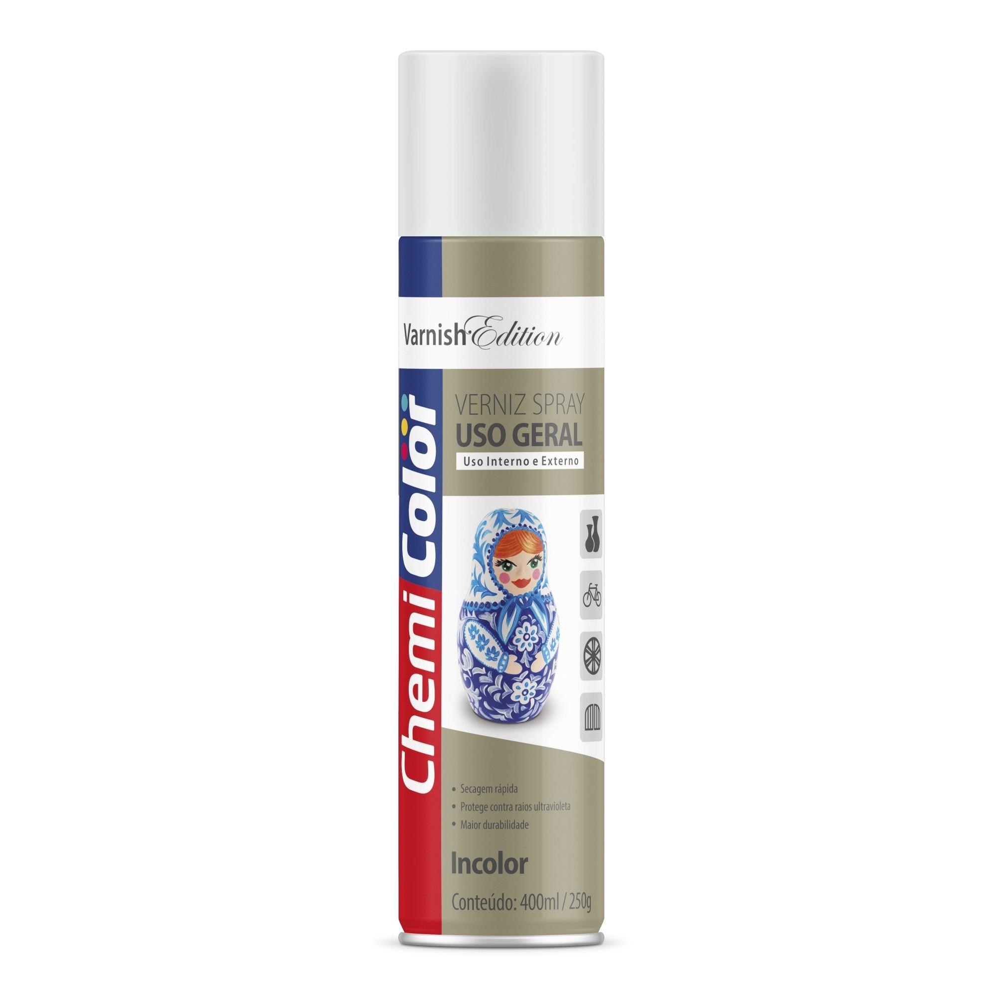 Verniz Spray Acrilico 400ml - Chemicolor