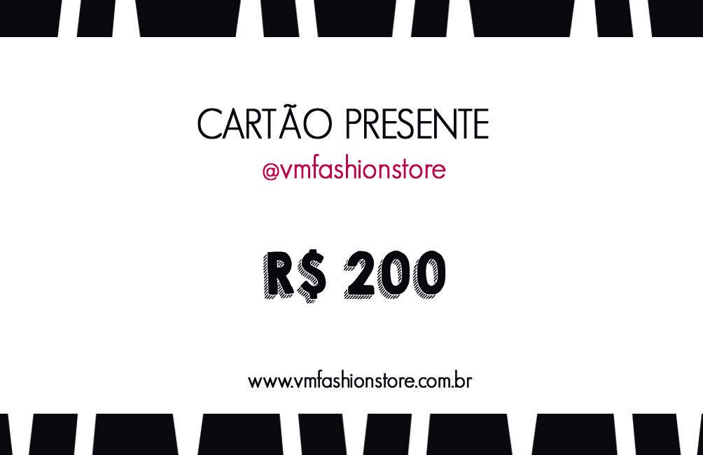 Cartão Presente R$200