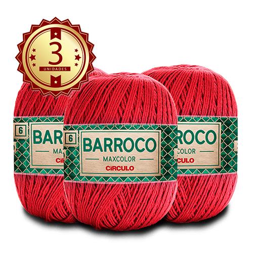 3 Barbante Barroco MaxColor Nº 6 - 200g  Cor: 3402
