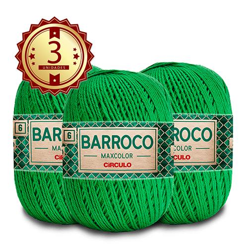 3 Barbante Barroco MaxColor Nº 6 - 200g  Cor: 5767