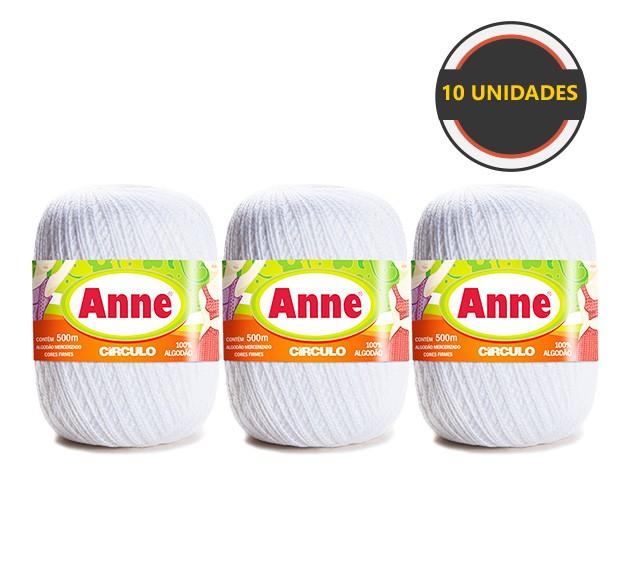 Anne 500 Kit Com 10 Unidades  Cor Branca - 8001