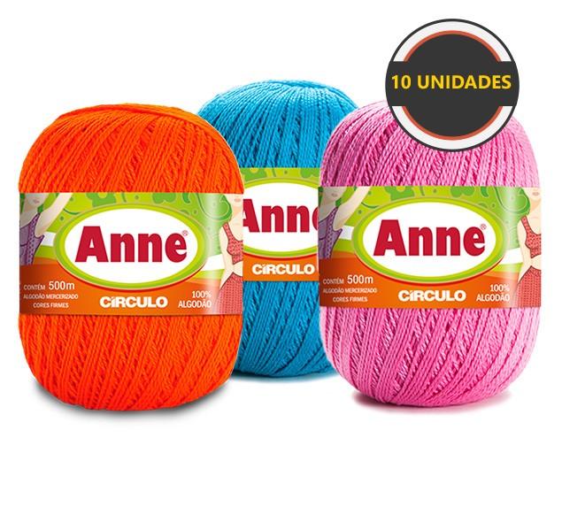Anne 500 Kit Com 10 Unidades cores Variadas