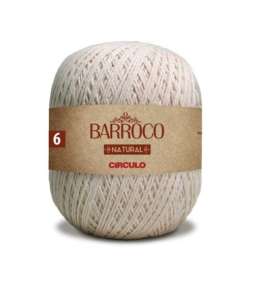 Barbante Barroco Natural nº6  4/6 700g
