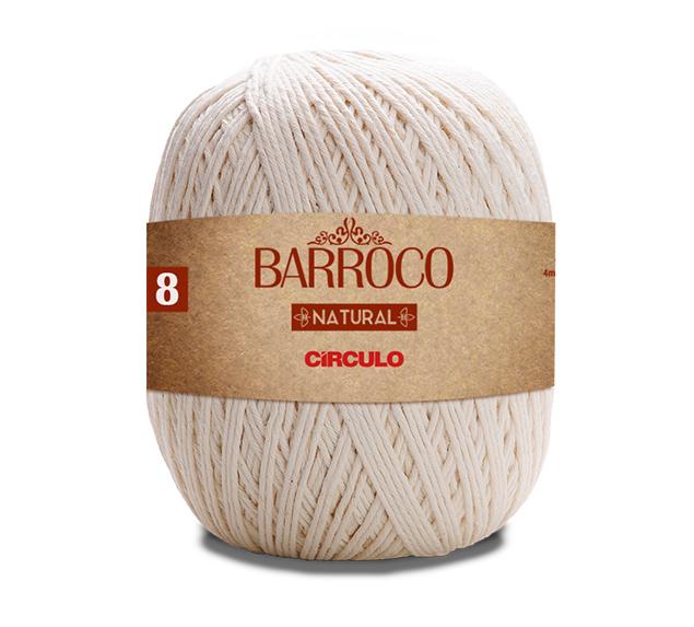Barbante Barroco Natural Nº8 700g