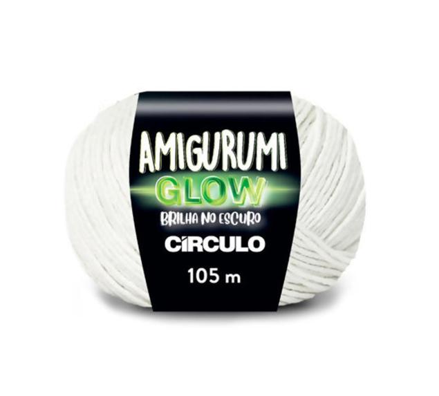 Fio Amigurumi Glow - Brilha no escuro - 50g - Branco