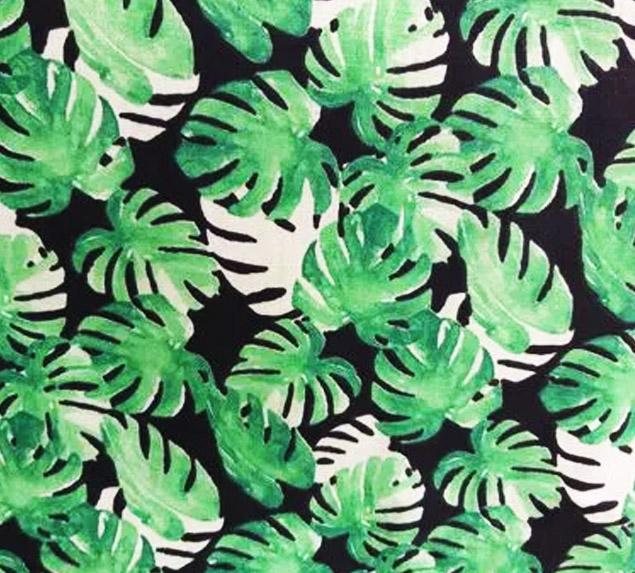 Tecido Tricoline Folhagem Tropical I