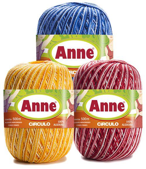 Linha Anne 500 Circulo Cores Mescladas