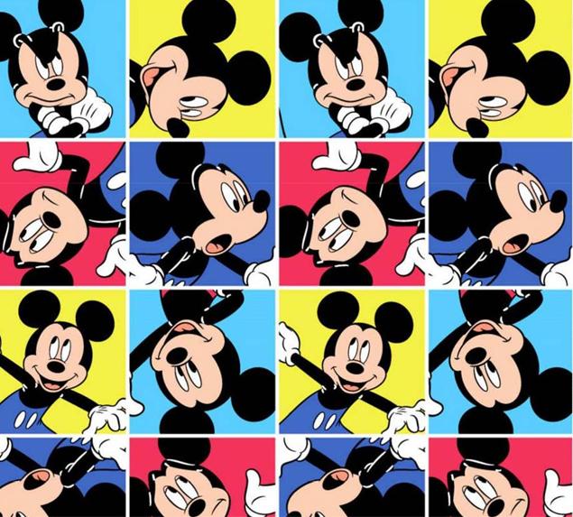 Tecido Tricoline  Mickey Mouse - Fat Quarter 50cm X 75cm