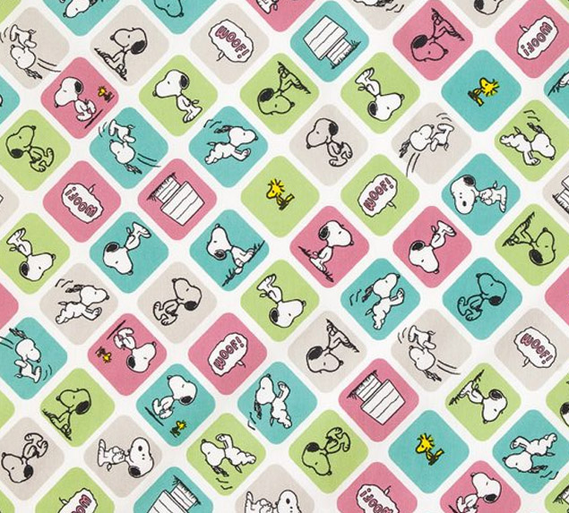 Snoopy Quadrinhos - Fat Quarter 50cm X 75cm