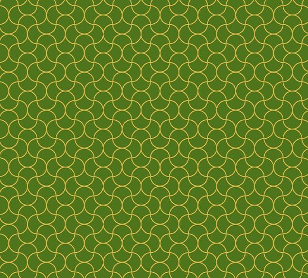 Tecido Tricoline Arabesco Verde Dourado