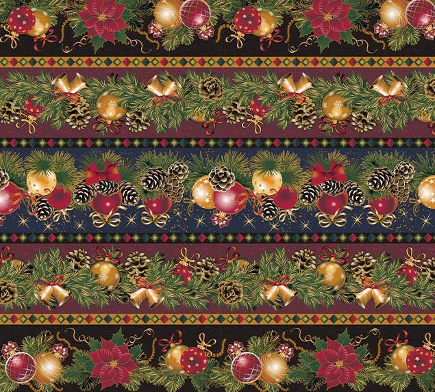 Tecido Tricoline Bolas de Natal